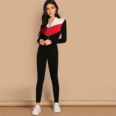 Gocgt Womens One Shoulder Long Sleeve Romper Playsuit Jumpsuit