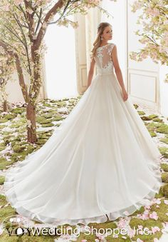 Shop Morilee's Classic V-Neck Wedding Dress Featuring a Delicately Beaded and Embroidered Bodice and Organza Skirt. Wedding Dresses and Bridal Gowns by Morilee designed by Madeline Gardner. Delicately Beaded Embroidery on Organza Wedding Dress Mori Lee Bridal, Mori Lee Wedding Dress, Wedding Dress Organza, Western Wedding Dresses, V Neck Wedding Dress, Luxury Wedding Dress, Gorgeous Wedding Dress, Princess Wedding Dresses, Bridal Wedding Dresses