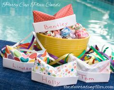 Today I have another simple DIY project for you! I'm going to show you how to make cute little party place cards in the shape of an army cap. If you can fold paper, you can make these. That's how easy it is! It's a great kid's craft! They're the perfect addition to your party table. See more at http://decoratingfiles.com/