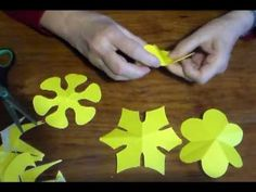 Como cortar flores de 6 pétalos- As cut flowers 6 petals- - YouTube