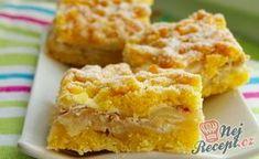 Výborné hraběnčiny řezy   NejRecept.cz Gourmet Appetizers, Pasta, Sweet And Salty, Apple Pie, Sweet Recipes, Sweet Tooth, Cheesecake, Deserts, Good Food