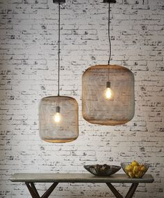 Majorca Small Hanging Lamp - CEILING LAMPS - Emac & Lawton - great with Plumen bulbs - available at plumen.com