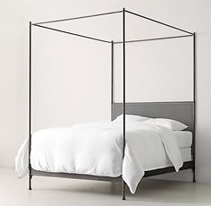 Caleigh Iron Canopy Bed from Restoration Hardware Teen