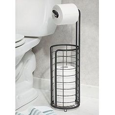 InterDesign Forma Free Standing Toilet Paper Holder for Bathroom - Matte Black in Home & Garden,Home Improvement,Plumbing & Fixtures | eBay