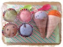 petit-hatの工房から needle felting Ice cream shop