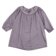 """Robe en coton """"Emile et Ida"""" avec passepoil argenté et lien avec perles. Tout simplement superbe !!"""