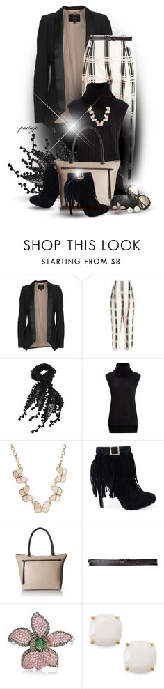 """""""Pink Plaid Party"""" by rockreborn ❤ liked on Polyvore featuring SLY 010, Temperley London, 3.1 Phillip Lim, Kate Spade, Maison Boinet, Victoria Beckham, Bling Jewelry, women's clothing, women's fashion and women"""