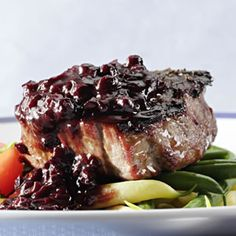 Recipe for Blueberry-Bourbon Barbecue Sauce. Unusual and yummy!