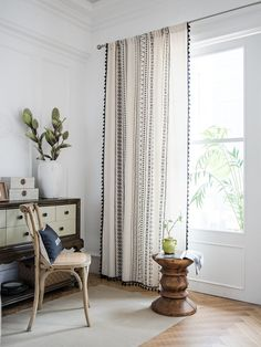 Curtains Living, Room Darkening Curtains, Cafe Curtains, White Curtains, Linen Curtains, Blackout Curtains, Window Curtains, Curtains For Bedroom, Stripe Curtains