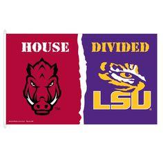 Arkansas Razorbacks VS LSU House Divided Flag, DFLAGARKLSU