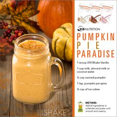 Pumpkin Pie Paradise. #310Shake