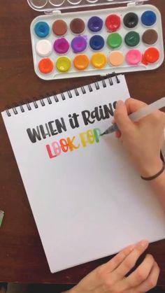Hand Lettering Art, Hand Lettering Tutorial, Watercolor Lettering, Brush Lettering, Bullet Journal Hand Lettering, Brush Pen Calligraphy, Lettering Ideas, Calligraphy Letters, Learn Calligraphy