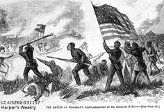 """When Grant decided to blockade Vicksburg, he drew troops away from previous outposts. Milliken's Bend had served as Grant's headquarters. Now that the main thrust moved south, the army left a few soldiers at Milliken's Bend for garrison duty. Most of these soldiers were African Americans. """"Journal of a Cavalry Bugler"""" p. 176 https://itunes.apple.com/us/book/journal-of-a-cavalry-bugler/id811468095?mt=11"""