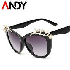 ANDY Luxury Quality Sunglasses Women Brand Designer Fashion Cat Eye Sun  Glasses Sexy Girls Glasses Shades 679466839f