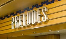 Preludes Preludes, a Quick Service restaurant located on Deck 4 just outside the Walt Disney Theatre, is a snack stand on the Disney Magic and the Disney Wonder serving beverages and snacks during live show performances and movies.