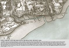 Lepe Exbury and the mouth of the Beaulieu River early 19th century map, more intriguing connections to follow