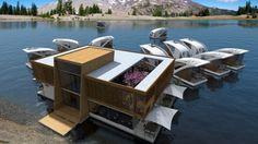 Floating Hotel with Catamaran-apartments - e-architect