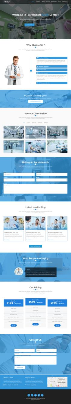 This template is suitable for dental, medical, construction and portfolio website. It has a fully responsive layout. It fits perfectly on various displays and resolutions from regular desktop screens to tablets, iPads, iPhones and small mobile devices. With many, many features, and many more to come – get our Construction Template today.