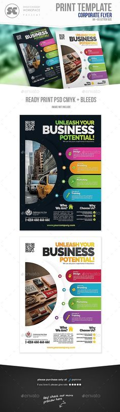 Flyer templates designed exclusively for corporate, business, agency, promotion or any of use. Fully editable, image/logo can be quickly added or replaced in smart objects. Poster Design Layout, Brochure Design, Creative Advertising, Advertising Design, Corporate Flyer, Corporate Business, Business Design, Newspaper Layout, Rollup Banner