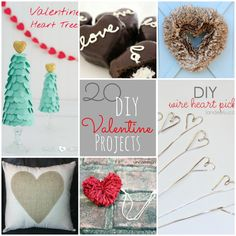 Great Ideas — 20 Valentine's Day DIY Projects!! Here are 20 fun DIY Valentine Projects you can make!