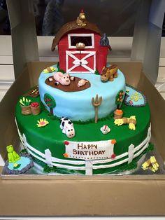 Barn farm cake  (creation by Sugar&Share, Half Moon Bay)