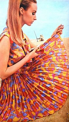 60s Fashion #LoveTheColors   I'm glad I was young enough that no one expected me to iron all those little pleats. I loved my tiny pleated dress and skirts.