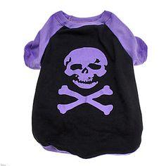Horrific+Skull+Pattern+Cotton+T-Shirt+for+Dogs+(XS-L)+–+USD+$+7.99