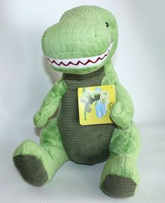 NWT Kohl's Cares Curious George GREEN T-REX DINOSAUR Plush Stuffed ANIMAL TOY