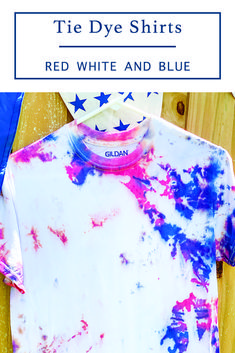 Make the perfect tie dye shirt with the simple step by step diy from Everyday Party Magazine #TieDye #4thofJulyTieDye #DIY