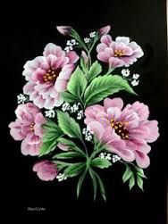 one stroke flower images One Stroke Painting, Tole Painting, Fabric Painting, Painting & Drawing, Painting Flowers, Flower Images, Flower Art, Pintura Tole, Donna Dewberry Painting