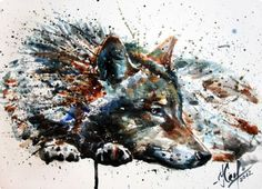 KOSTART | WATERCOLOR | Wolf