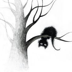 cats on trees by Elena Lishanskaya, via Behance