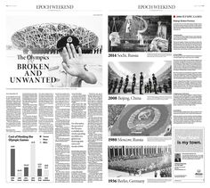 The Olympics: Broken and Unwanted|Epoch Times #China #editorialdesign