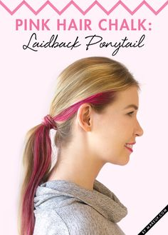 So pretty in pink! Dress up your relaxed pony with a streak (or two) of pink. Find out how to get this look. All you need is Sweet Sixteen Pink by L'Oréal Professionnel and then just follow along with this tutorial to get this cute hairstyle!