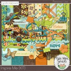 Inspire Me Digital Scrapbook KIT at Gotta Pixel. www.gottapixel.net/