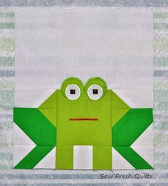 Sew Fresh Quilts: Elephant Parade - Week 3 - Frog