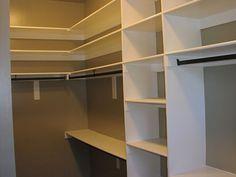Closet Shelving Ideas, Ideas Closet, Closet Shelves, Diy Closet, Closet  Storage, Small Walk In Closet Ideas Layout, Closet Wire,