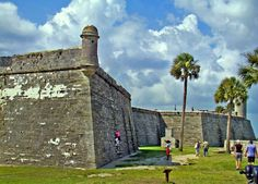 Castillo de San Marcos National Monument: St. Augustine, Florida. 17th Century Spanish Fort. Haunted.