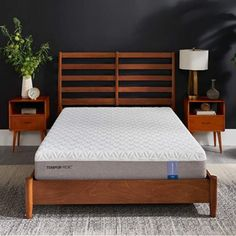EASY TO SET UP: Every Tempur-Pedic memory foam mattress is designed to work with a firm stable foundation or an adjustable base. Queen Platform Bed, Platform Bed Frame, Upholstered Platform Bed, Upholstered Beds, Twin Xl Mattress, Queen Mattress, Best Mattress, Latex Mattress, Home Depot