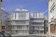 Lacaton & Vassal | 59 viviendas sociales Neppert Gardens | Mulhouse, Francia | 2014