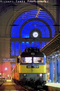Budapest, Railway Station by Tamas Rizsavi My House In Budapest, Budapest Travel Guide, Capital Of Hungary, European River Cruises, Heart Of Europe, By Train, Central Europe, Budapest Hungary, Train Travel