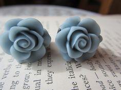PlugsGaugesSlate Blue Roses10g 8g 6g 4g 2g 0g by RefinedRubbishLLC, $24.00