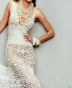Вязание крючком - Ажурные платья подборка - пополнила и добавила схемы