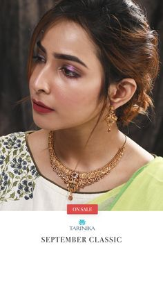 Sarup Necklace is a dream set for every modern woman. Made with CZ stone and antique plating done, it radiates with elegance at its core. Jewelry Design Earrings, Gold Jewellery Design, Necklace Designs, Fashion Rings, Fashion Jewelry, Women's Fashion, Gold Wedding Jewelry, Gold Jewelry, Antique Necklace