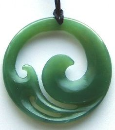 pendant art nephrite necklace s koru zealand p maori jade pounamu greenstone new