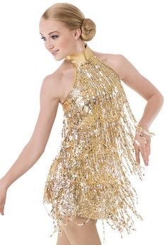 Weissman™ | Halter Sequin Fringe Flapper Dress - waiting for the lights to change - nikki williams