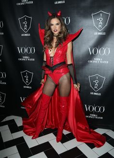 Alessandra Ambrosio attends the Heaven and Hell Halloween Party in Los Angeles on Oct. 31, 2015.