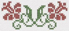 Sewing Embroidery Designs At Home Is Real Fun. Cross Stitch Borders, Cross Stitch Flowers, Cross Stitching, Cross Stitch Embroidery, Cross Stitch Patterns, Crochet Handbags, Knitting Charts, Christmas Cross, Loom Beading