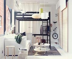 lit mezzanine deux places dans le studio moderne