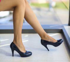 Pantofi Doris Bleumarin Ron, Kitten Heels, Pumps, Shoes, Fashion, Choux Pastry, Moda, Zapatos, Shoes Outlet